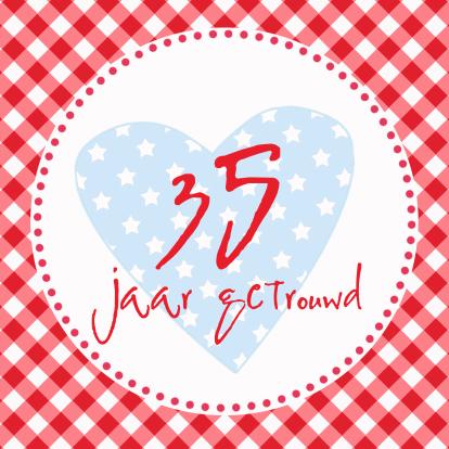 35 jarig huwelijksjubileum Verjaardagskaart 35 Jaar Getrouwd   ARCHIDEV 35 jarig huwelijksjubileum